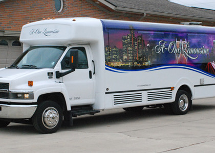 White Party Charter Bus
